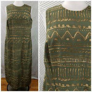 Vintage Spencer Jeremy Silk Dress size 16 Tribal